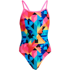 Funkita Single Strap One Piece Uimapuku Tytöt, colour burst